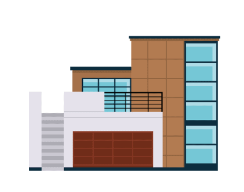 A graphic of a commercial property